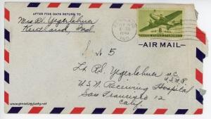 September 5, 1945 envelope