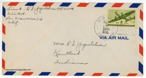 September 5, 1945 envelope
