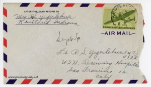 September 6, 1945 envelope