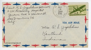 September 6, 1945 envelope