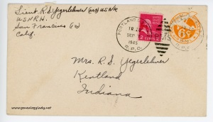 September 7, 1945 envelope