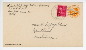 September 8, 1945 envelope