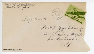 September 10, 1945 envelope