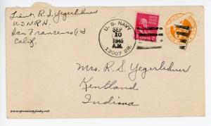 September 10, 1945 envelope