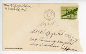 September 18, 1945 envelope