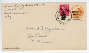September 19, 1945 envelope