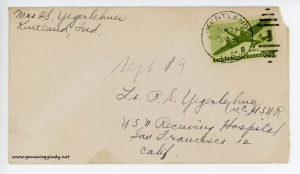 September 19 (or 20), 1945 envelope
