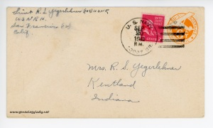 September 20, 1945 envelope