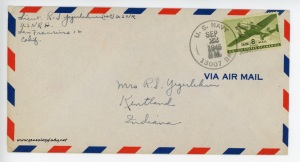 September 22, 1945 envelope