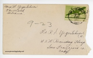 September 23, 1945 envelope