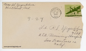 September 24, 1945 envelope