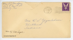 September 25, 1945 envelope