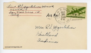 September 26, 1945 envelope