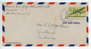September 27, 1945 envelope