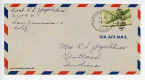 September 28, 1945 envelope