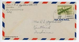 September 29, 1945 envelope