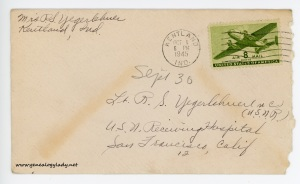 September 30, 1945 envelope