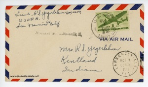 October 1, 1945 envelope