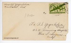 October 2, 1945 envelope