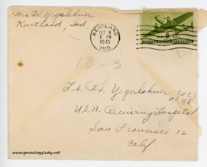 October 3, 1945 envelope
