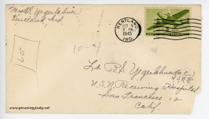 October 4, 1945 envelope
