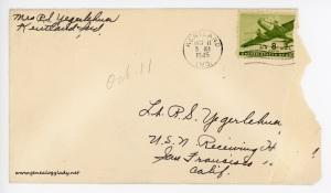 1945-10-11 (GRY) envelope