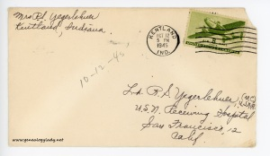 October 12, 1945 envelope