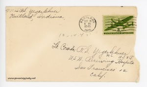 October 14, 1945 envelope