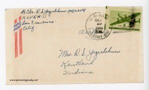 October 15, 1945 envelope