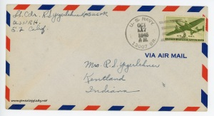 October 16, 1945 envelope