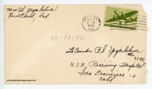 October 17, 1945 envelope