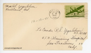 October 18, 1945 envelope