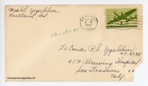 October 18, 1945 envelope