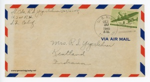 October 19, 1945 envelope