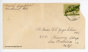 October 20, 1945 envelope