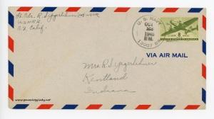 October 21, 1945 envelope