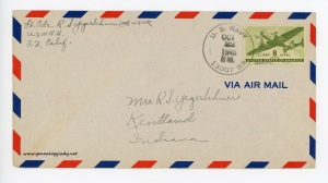 October 21, 1945 envelope