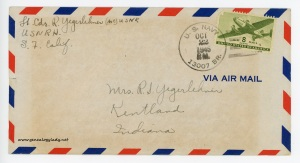 October 22, 1945 envelope