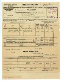 November 3, 1945 - Mileage voucher