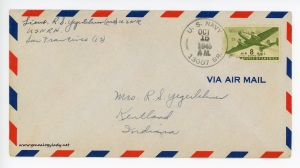 October 13, 1945 envelope