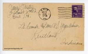 December 7, 1945 envelope