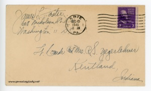 December 9, 1945 envelope