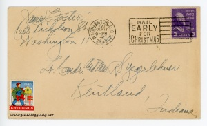December 17,1945 envelope