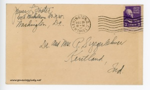 December 21, 1945 envelope