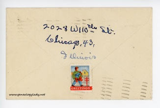 January 3, 1946 envelope (back)