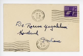 January 3, 1946 envelope (front)
