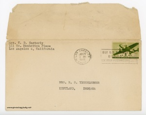 January 26, 1946 envelope