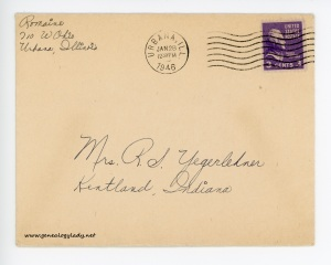 January 27, 1946 envelope
