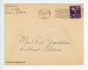 January 27, 1946 envelope