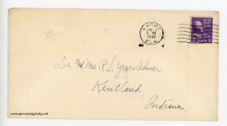 January 28, 1946 envelope (front)